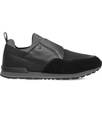Tod's Neoprene And Leather Running Trainers Blk Red