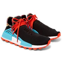 Adidas Consortium Pharrell Williams Hu Nmd Primeknit Sneakers Black