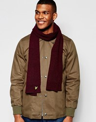 Lyle And Scott Tonal Scarf Red