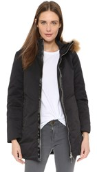 Add Down Down Hooded Parka With Fur Black