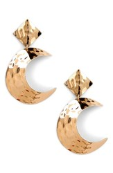 Sole Society Lunar Statement Earrings Gold