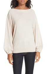 Brochu Walker Dakota Silk Blend Sweater Almond Buff