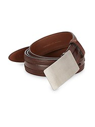 Brunello Cucinelli Embossed Leather Belt Brown