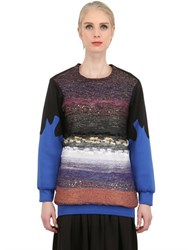 Natargeorgiou Neoprene And Lurex Sweater