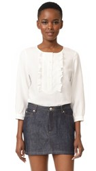 A.P.C. Cleo Blouse Blanc Casse