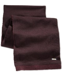 Ryan Seacrest Distinction Ryan Seacrest Glen Plaid Double Knit Scarf Only At Macy's Cordovan