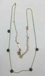 Jacquie Aiche Yellow Gold 5 Turquoise Necklace Green