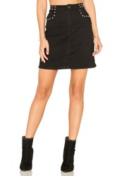 Weslin Grant Studded Mini Skirt Black