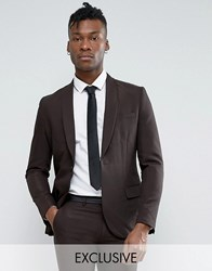 Only And Sons Skinny Shawl Suit Jacket In Tonic Bronze Gold