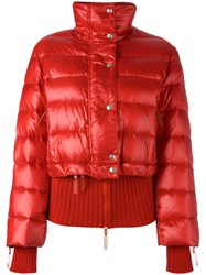 Christian Dior Vintage Cropped Puffer Jacket Red