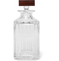 Linley Trafalgar Glass And Walnut Whisky Decanter Clear