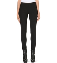 Rick Owens Skinny Stretch Crepe Leggings Black