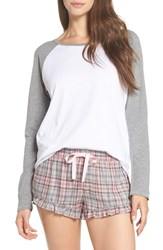 Ugg Charly Short Pajamas Parfait Pink Plaid