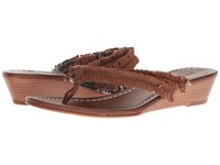 Bernardo Miami Fringe Wedge Luggage Women's Wedge Shoes Brown