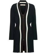 Marni Wool Blend Cardigan Green
