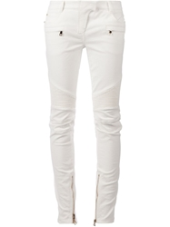 Balmain Skinny Trousers White