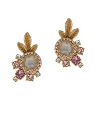 Marchesa Floral Clustered Earrings Gold