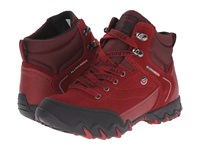 Allrounder By Mephisto Nigata Tex Black Rubber Mid Red O Suede Women's Lace Up Casual Shoes Brown