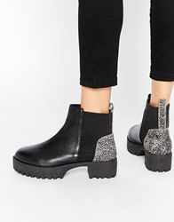 Park Lane Chunky Leather Chelsea Boots Black