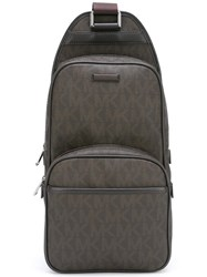 Michael Kors 'Jet Set Logo Sling' Backpack Brown