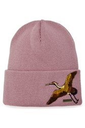 Dsquared2 Wool Hat With Embroidery Rose