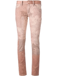 Isabel Marant Tie Dye Jeans Pink And Purple