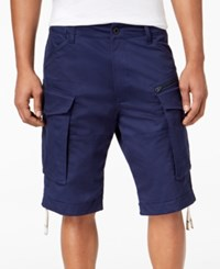 G Star Raw Men's Rovic Loose Fit Cargo Shorts Imperial Blue