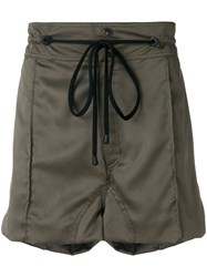 Di Liborio Zipped Pocket Drawstring Shorts Green