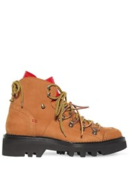 Dsquared 50Mm Nubuck Hiking Boots Natural