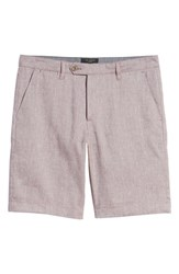 Ted Baker London Newshow Flat Front Stretch Cotton Blend Shorts Purple