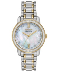 Citizen Women's Eco Drive Two Tone Stainless Steel Bracelet Watch 35Mm Em0114 51D A Macy's Exclusive