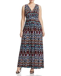 Tart Collections Plus Chloe Ikat Print Maxi Dress Ikat Geometric