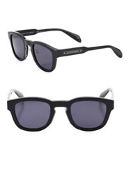 Alexander Mcqueen 50Mm Round Sunglasses Black