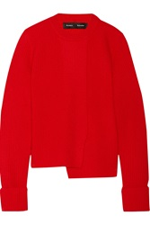 Proenza Schouler Asymmetric Ribbed Wool And Cashmere Blend Sweater