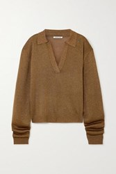 Georgia Alice Metallic Knitted Sweater Light Brown