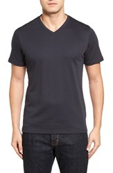 Robert Barakett Men's Georgia V Neck T Shirt Midnight