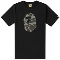 A Bathing Ape Reflective 1St Camo Tee Black
