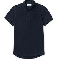 Orlebar Brown Sebastian Sli Fit Cotton Pique Polo Shirt Navy