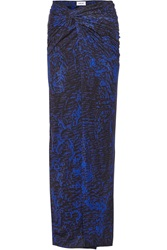 Helmut Lang Printed Stretch Jersey Maxi Skirt