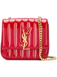 Saint Laurent Small Vicky Chain Bag Red