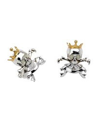 Skull And Crown Cuff Links Men's Silver Deakin And Francis