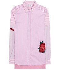 Each X Other Embroidered Striped Cotton Shirt