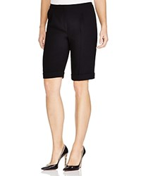 Elie Tahari City Cuffed Shorts Black