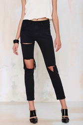 Nasty Gal Romeo Distressed Jeans