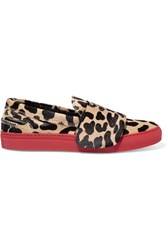 Giambattista Valli Leopard Print Calf Hair Sneakers Animal Print