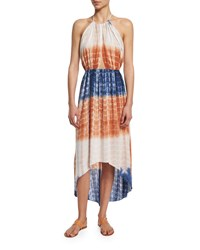 Ale By Alessandra Tie Dye Halter Coverup Dress Multi