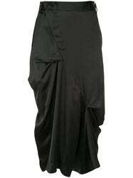 Moohong Draped Skirt Trousers Black