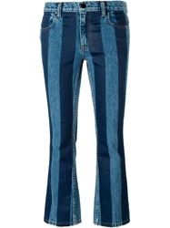 Alexander Wang Striped Cropped Jeans Blue