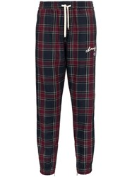Champion Checked Joggers Blue