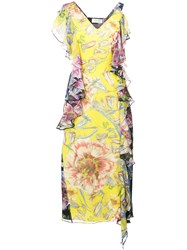 Prabal Gurung Floral Shift Dress Yellow And Orange